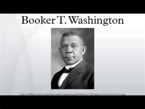 What is a good thesis statement for booker t washington